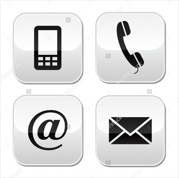 email phone icons