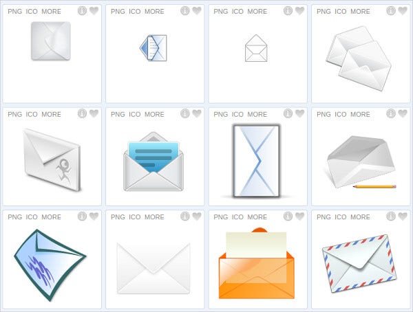 Tranparent Email Icon