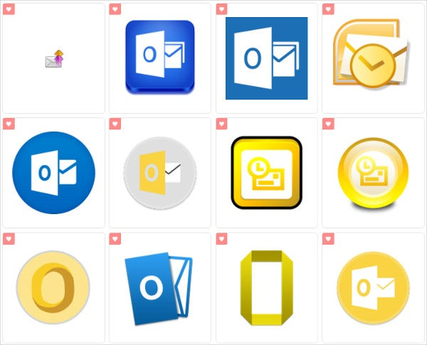 Outlook Email Icons