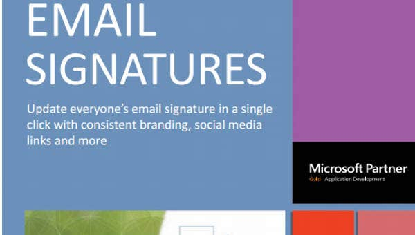 8 company email signatures