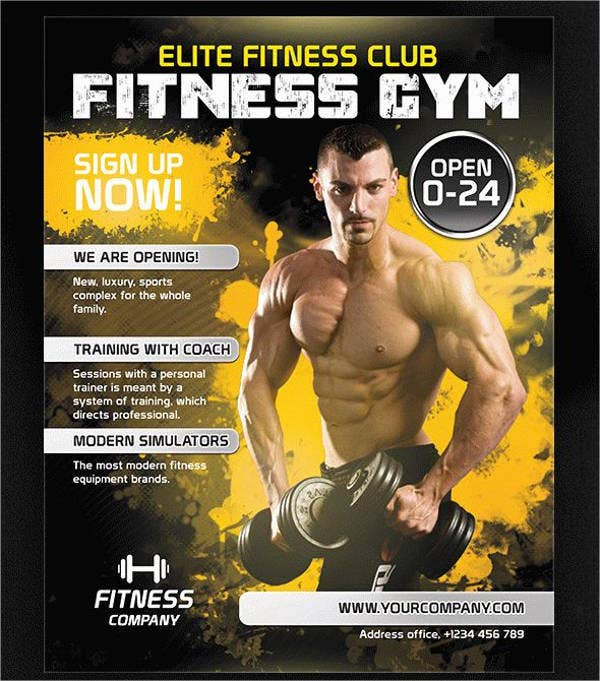 fitness flyer psd