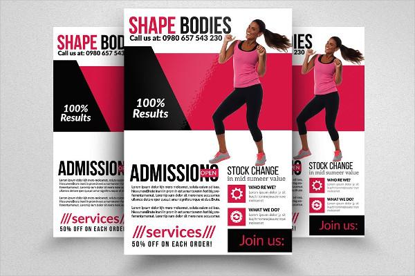 Fitness Body Shape Program Flyer