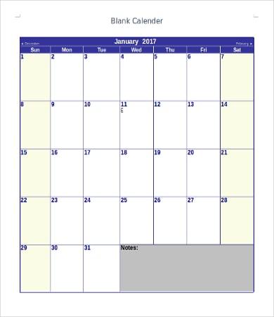 printable blank calendar templates2