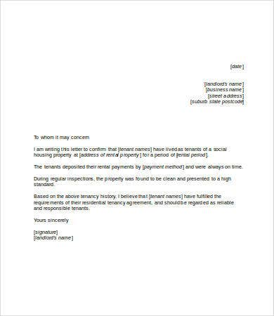 Housing reference letter personal reference template portray personal reference letter template free word pdf documents expocarfo