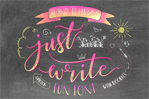 Chalkboard Hand Lettering Font