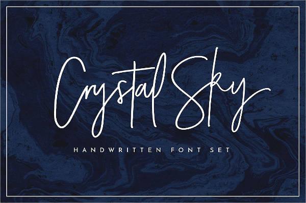 Cursive Hand Lettering Font