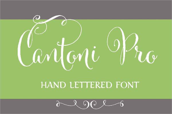 Modern Hand Lettering Font