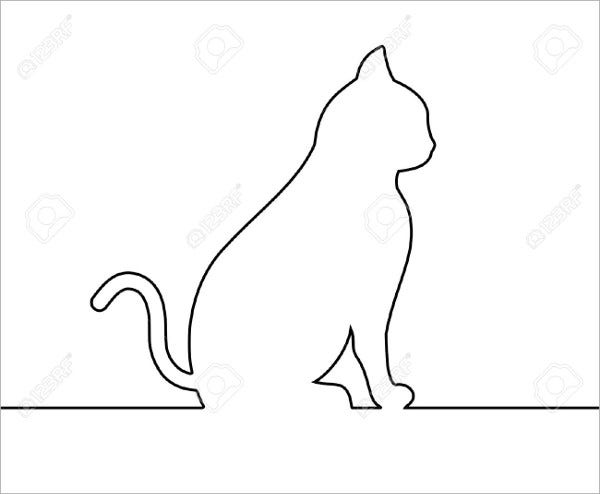 cat silhouette outline