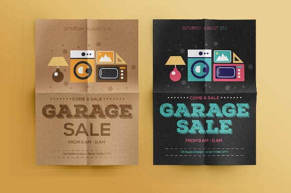 garage sales flyer