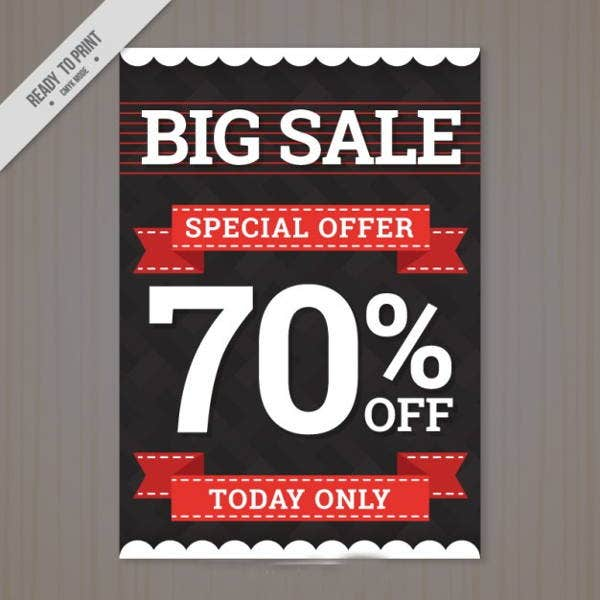 modern big sale flyer
