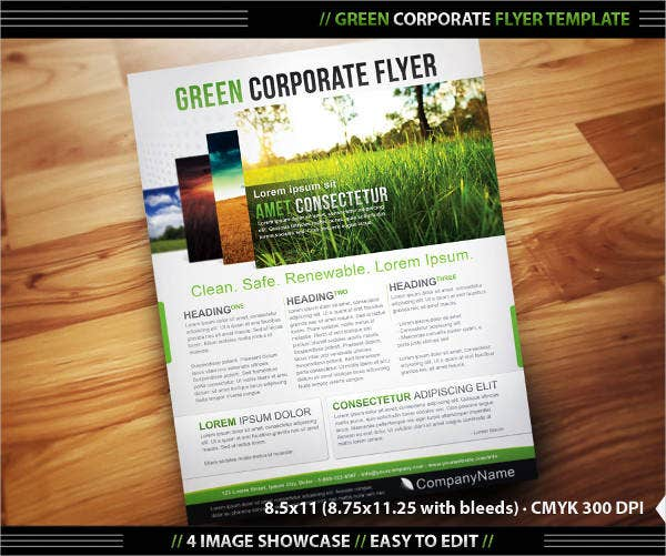 green-corporate-flyer-template