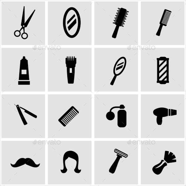 vector barber icons