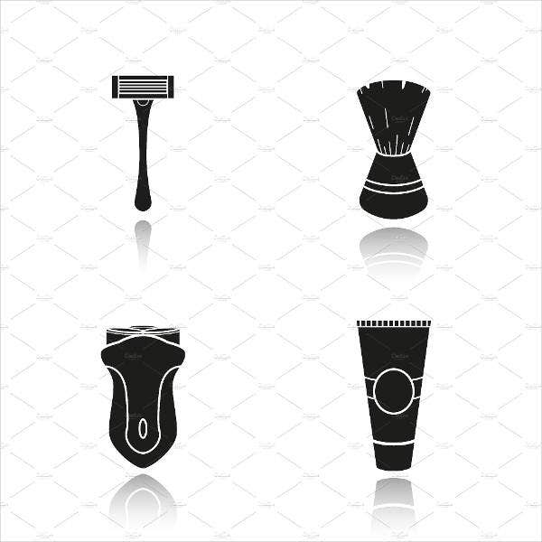 shave equipment icons
