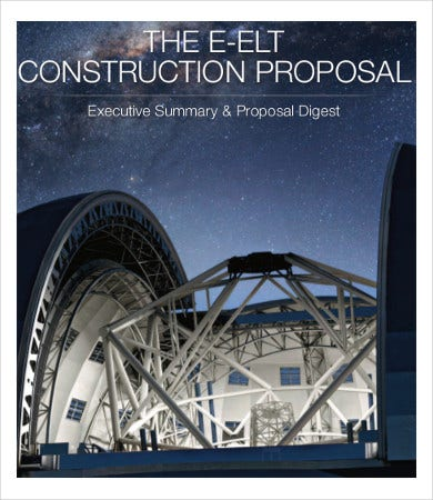 E- ELT Construction Proposal Template