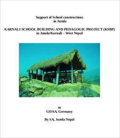School Construction Proposal Template