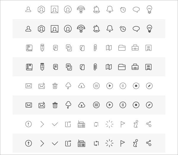 Free Wireframe Icons
