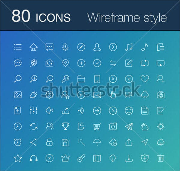 Mobile Wireframe Icons