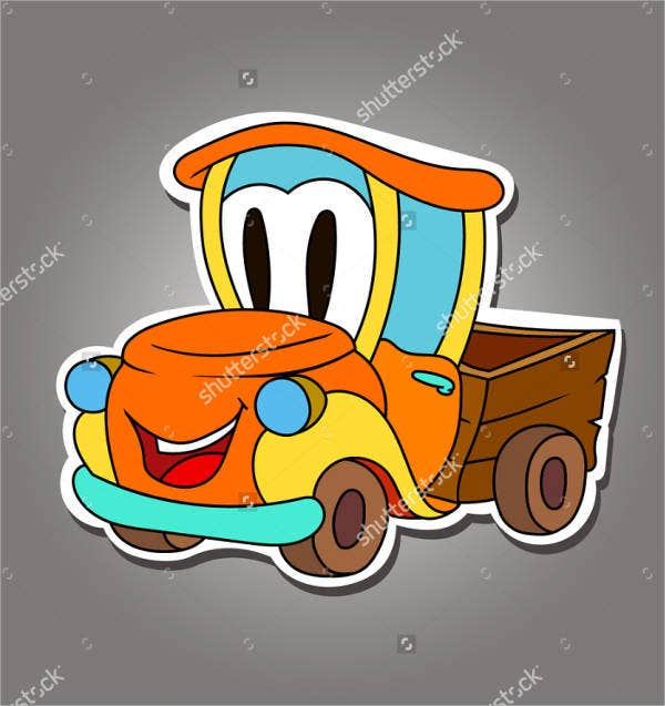 funny truck stickers