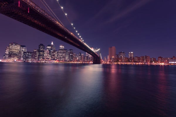 Newyork Bridge Night Photography