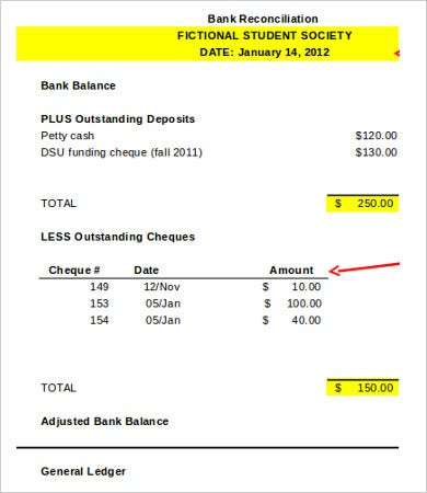 Daily Bank Reconciliation Template