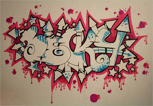 Outstanding Graffiti Letter Free Download