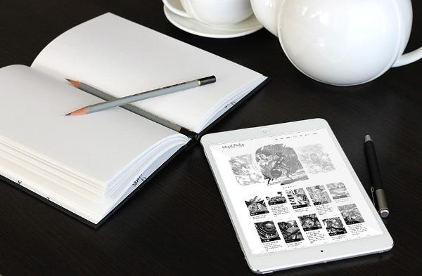 Simple Sketchbook PSD Mockup