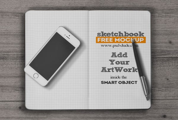 Printable Sketchbook Mockup