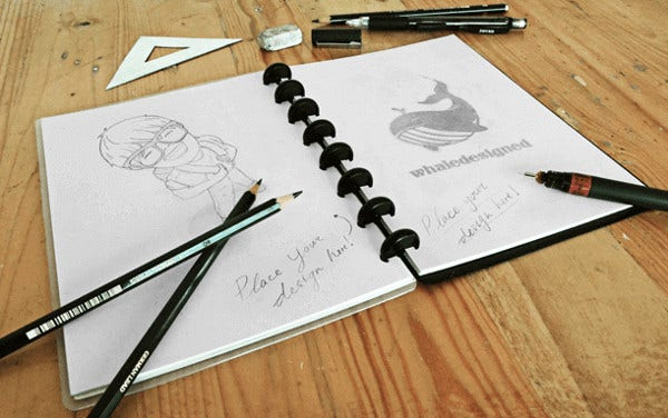 nice sketch book mockup psd