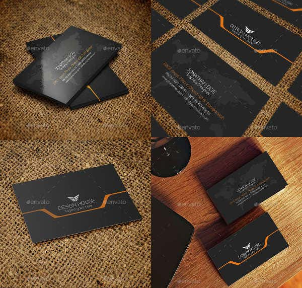 Simple Typography Business Card