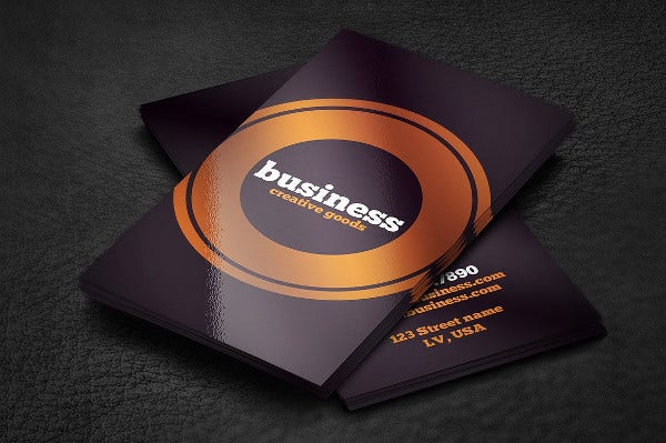 Marketing Typo Business Card