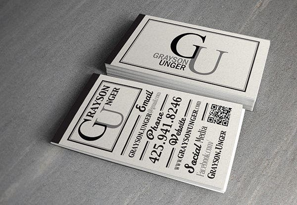Free Typography Business Card