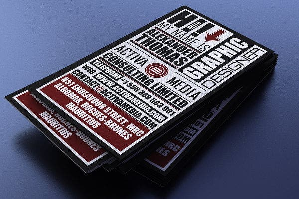 Elagant Typography Business Card