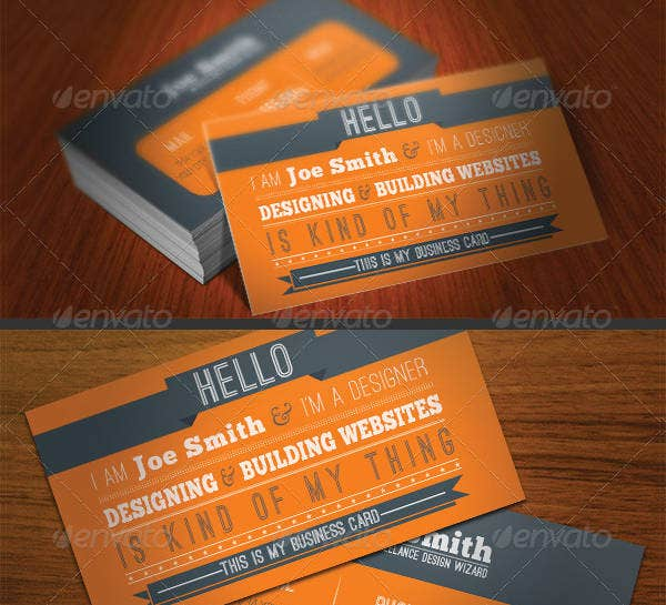Design Typography Business Card
