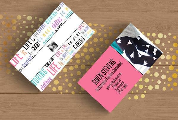 Business Card Template in Typography Style