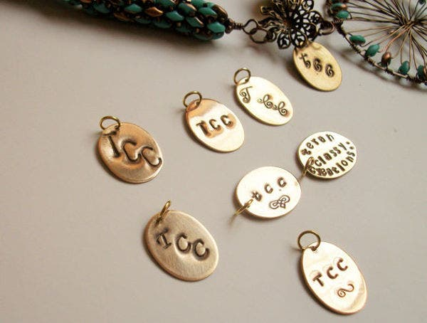 personalized jewelry tag