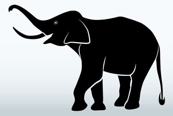 picture relating to Printable Elephant named 9+ Elephant Silhouettes No cost Top quality Templates