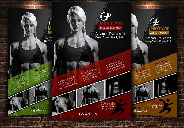 Gym Flyers  Printable Psd Ai Vector Eps Format Download