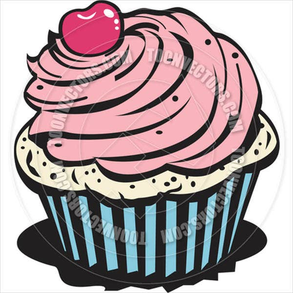 cartoon-cupcake-vector