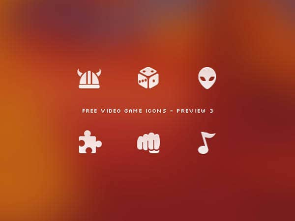 video-game-icons-set