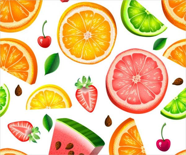 Vector Photoshop Fruit Patterns
