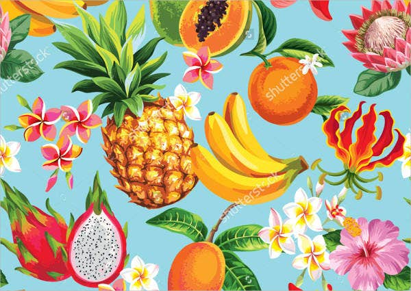 Tropical Fruit Patterns