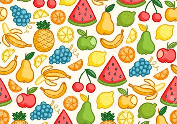 Juicy Fruit Seamless Patterns
