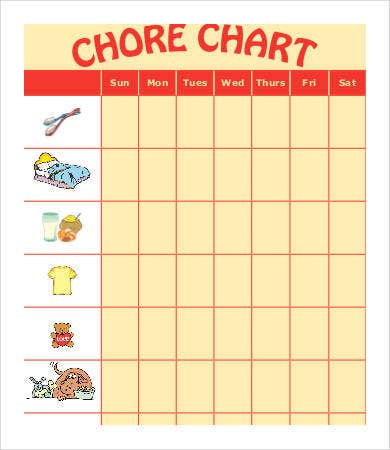 chore chart for toddlers1