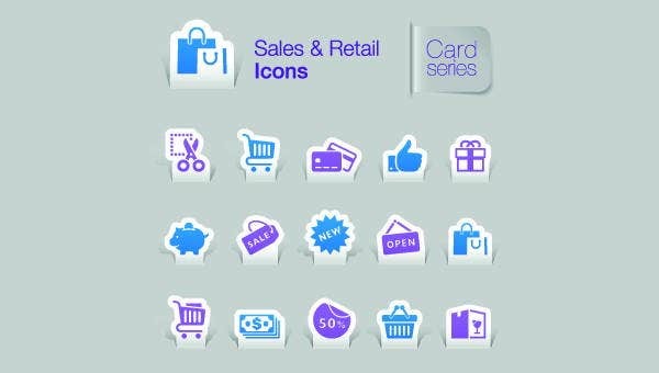 retail sales icons