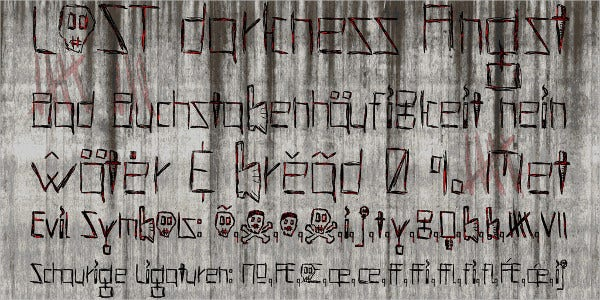 Scratchy Horror Font