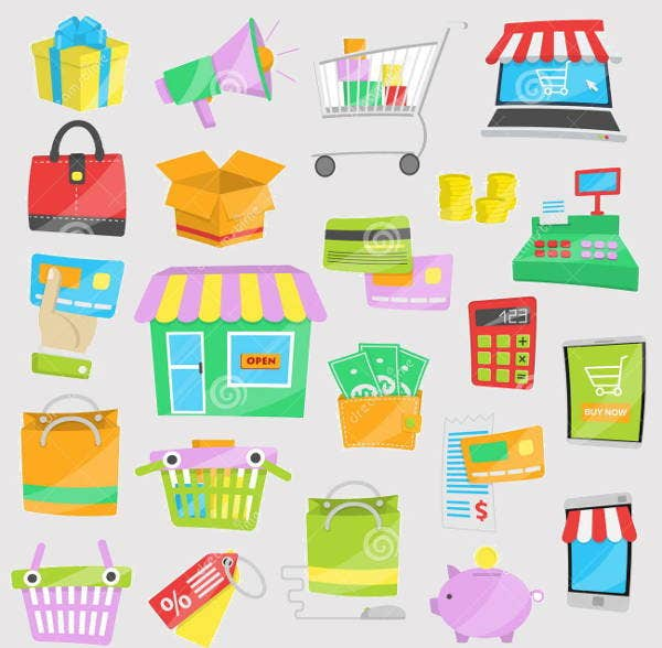 shopping and sales vector icons