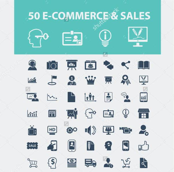 e commerce sales icons