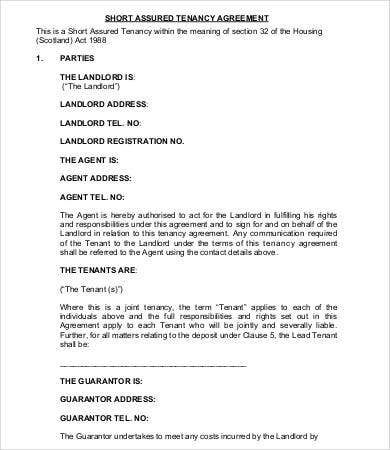 Sample Tenancy Agreement Doc