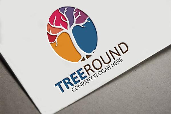Vector Tree Round Logo