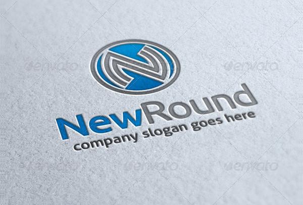 New Round Letter N Logo
